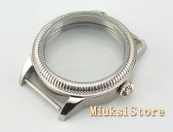 Parnis watch style 44mm case Retro steel fit Unitas 6497 6498 movement