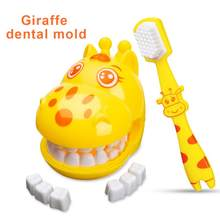 Giraffe Teeth Brush Demo Teeth Teaching Model Dental Model Teeth Model Kids Children Earlier Education Brushing Tooth Toy Gifts