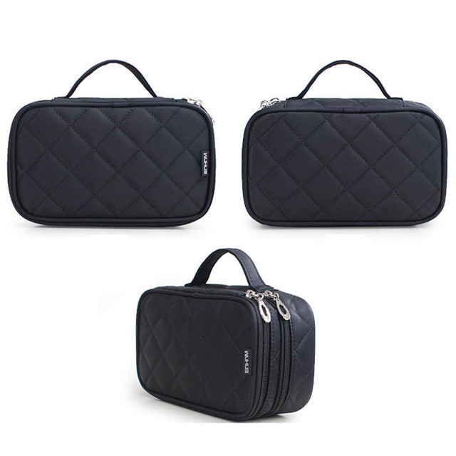 New Fashion Zipper Women trave Make Up  bag Big Capacity 2 layers cosmetic bags beauty Case Makeup Organizer Toiletry bag kits 4