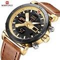 NAVIFORCE мужские креативные спортивные часы с хронографом  мужские Модные кварцевые часы с двойным дисплеем  мужские наручные часы  Relogio Masculino