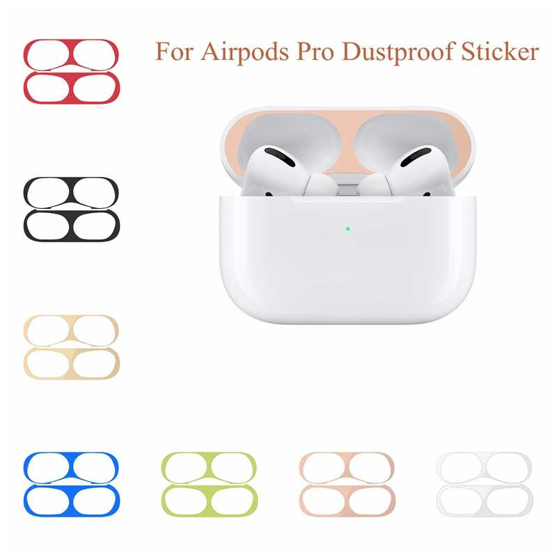 Metal Dust Guard for Apple Airpods Pro Sticker Skin Accessories Case Charging Box Cover for Airpods Pro Protective Thin Sticker