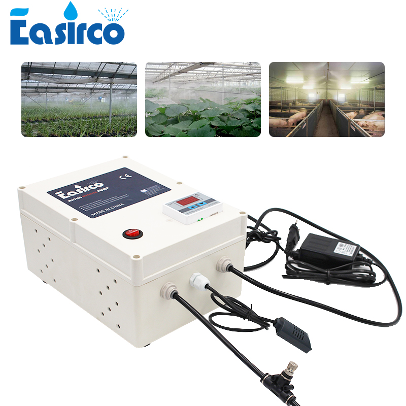 Mist Cooling System With Humidity Controller 20pcs Nozzle. Humidifier For Greenhouse & Reptile Humidifier.