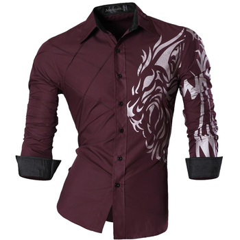 Silky Long Sleeve Casual Slim Fit Shirts 13