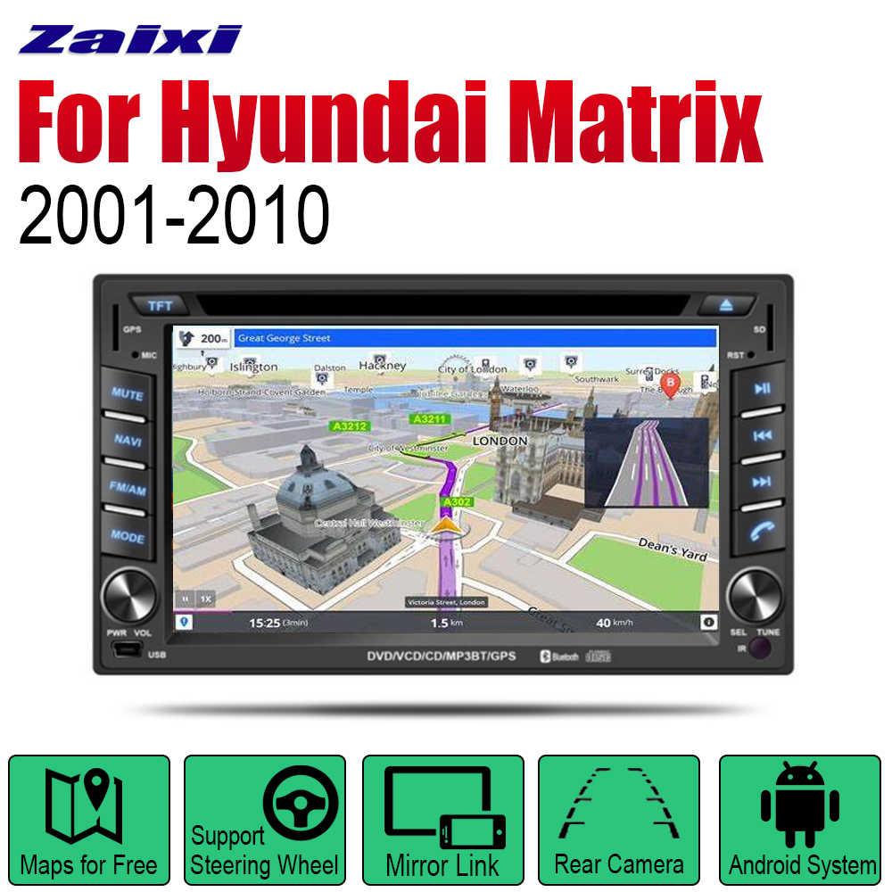 ZaiXi アンドロイド 2 喧騒オートラジオ DVD ヒュンダイマトリックス 2001 〜 2010 車のマルチメディアプレーヤー GPS ナビゲーションシステムラジオステレオ