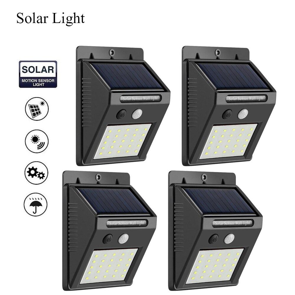 New New 25 LED Solar Light PIR Motion Sensor 1/2/4pcs Solar Wall Lamp Outdoor Waterproof Energy Saving Garden Security Lamps