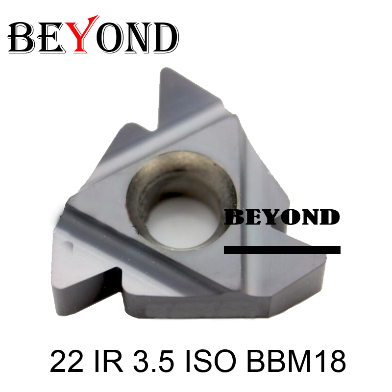 BEYOND 22 IR 3.5/4.0/4.5/5.0/5.5/6.0 ISO Carbide Inserts For Thread Lathe Turning Tools SNR SEL Cnc SNR0020 22IR ISO Boring Bar