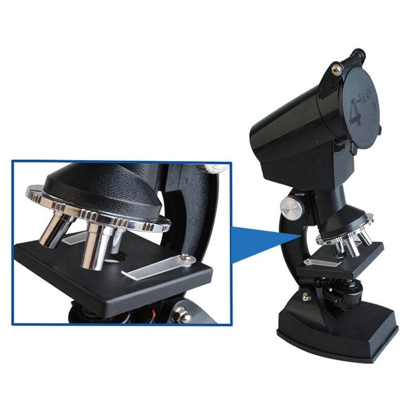 300x-600x-1200x com microscópio de projeção biológica educacional do estudante leve