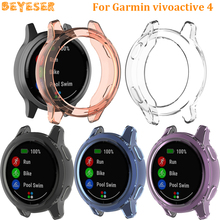 TPU Protective Cover for Garmin vivoactive 4 Clear Watch Case replacement for Garmin Active Protective shell smart Accessories
