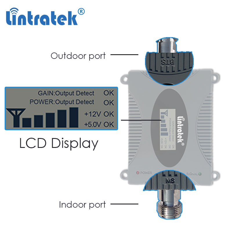 Lintratek 2600 B7 4G LTE 2600mhz celular amplificador repetidor 3G 2100 WCDMA GSM 900, 1800 mhz, 4g LTE amplificador de señal de antena sk - 4