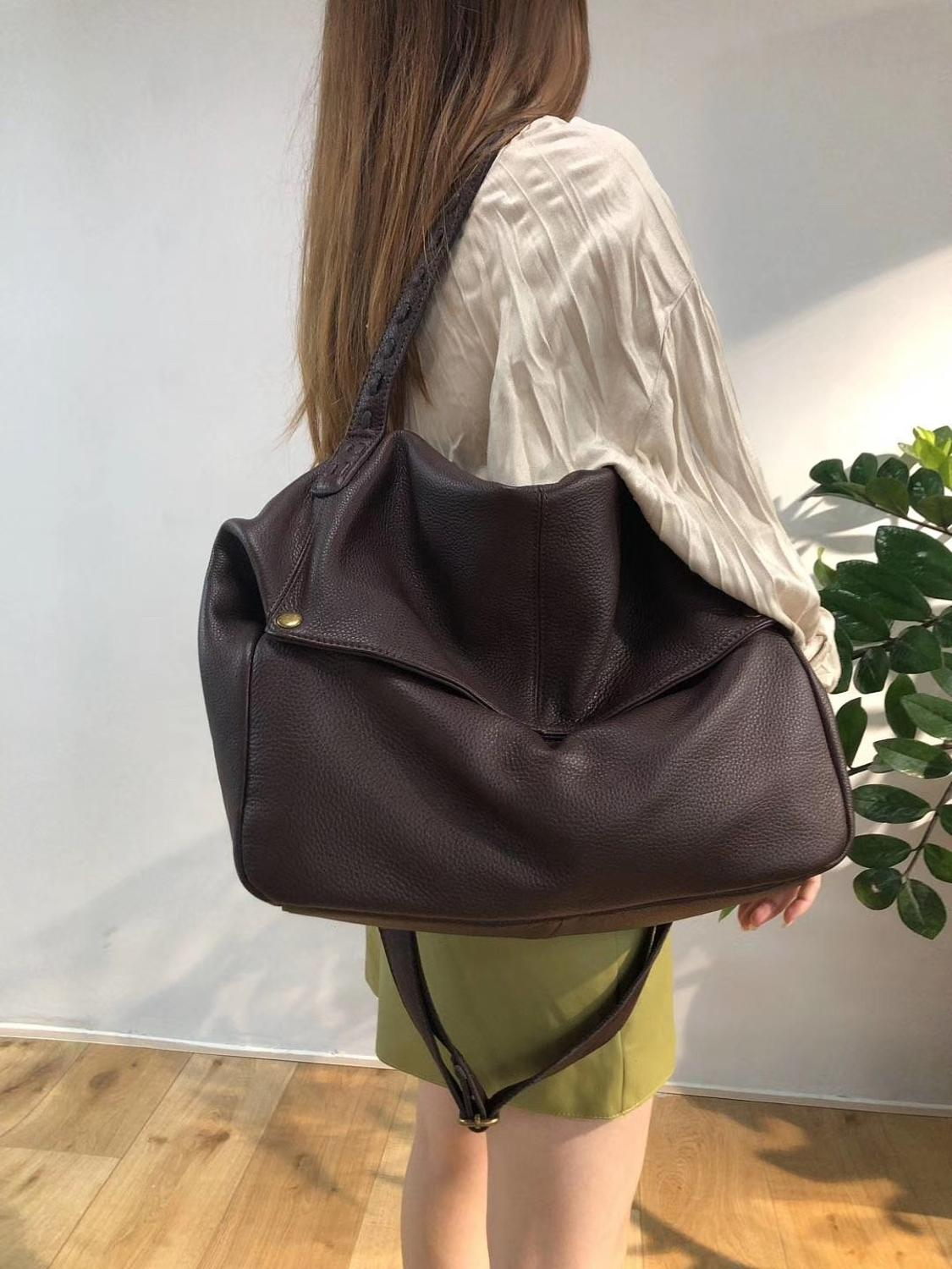 Woman Handbags Natural Genuine Leather Bag Female Portable Shoulder Crossbody Bags High Quality Casual Tote Women Large Capacity