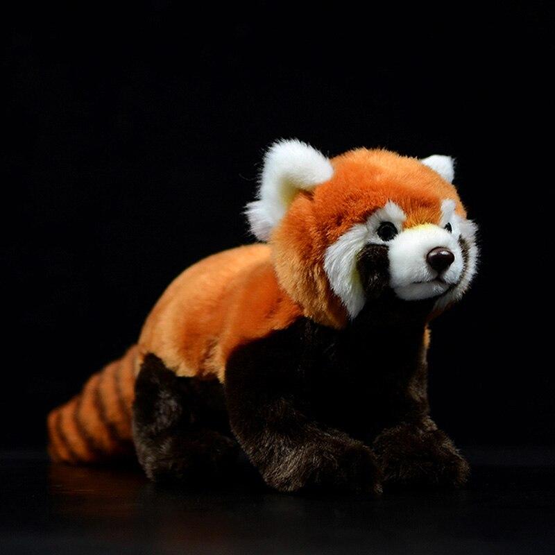 simulacao panda vermelho ailurus fulgens menor panda adoravel bonito bonecas macio kawaii animais recheados de pelucia