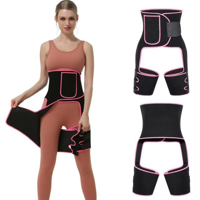 Sweat Hip Band Waist Trainer Thigh Trimmers Slimmer Body Shaper Belt For Waist Support Sport Workout Sweat Belts 4