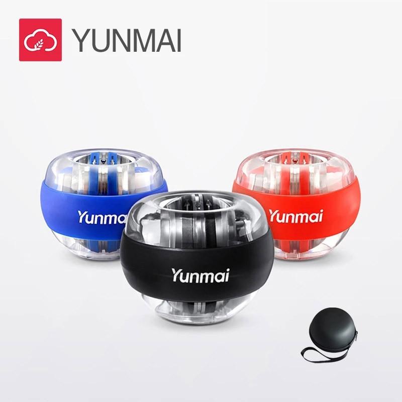 Yunmai bola de pulso led trainer relaxar giroscópio bola muscular energia gyro braço exercitador equipamentos fitness aperto mão exercitador