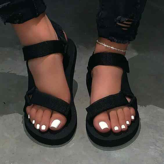 2020 ผู้หญิงใหม่ฤดูใบไม้ผลิ/ฤดูร้อนใหม่นุ่มลื่นรองเท้าแตะลื่นโฟมทนทานรองเท้าแตะกลางแจ้งรองเท้าแตะชายหาด MS