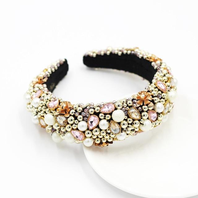 Heavy Crystal Color Shiny Diamond Headband  3
