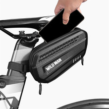 Bicycle Tail Bag Hard Case Mountain Bike Saddle Bag Rainproof Black Road Bike Tail Rear Bag Riding Equipment Cycling Accessories rockbros tool bicycle bag rainproof cycling riding bike bag portable mtb road bike water bottle cycling bag bike accessories