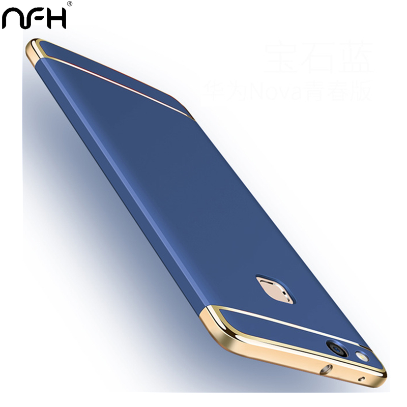 Luxury Gold Plating <font><b>360</b></font> Protection <font><b>Case</b></font> For <font><b>Huawei</b></font> P10 Lite Plus <font><b>Y7</b></font> Y6 Y5 Prime 2018 Matte Hard Silicon Back Cover On <font><b>Y7</b></font> Y6 <font><b>2019</b></font> image