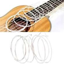 Novo 6 pçs cordas da guitarra acústica náilon prata cordas conjunto para clássica guitarra clássica 1m 1-6 e b g d a e guitarra baixo parte