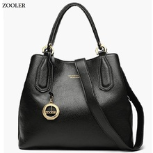 BIG sales! High quality genuine leather bags ZOOLER luxury leather handbags women bags designer  women leather tote bags#H128 цены онлайн