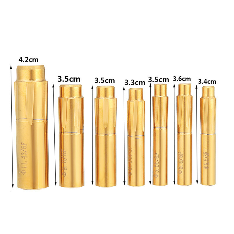 6 Flutes Grooves Spiral Reamer 5.5-11.43mm Push Rifling Button Chamber Helical Machin Break Tool Accessories Machine Reamer