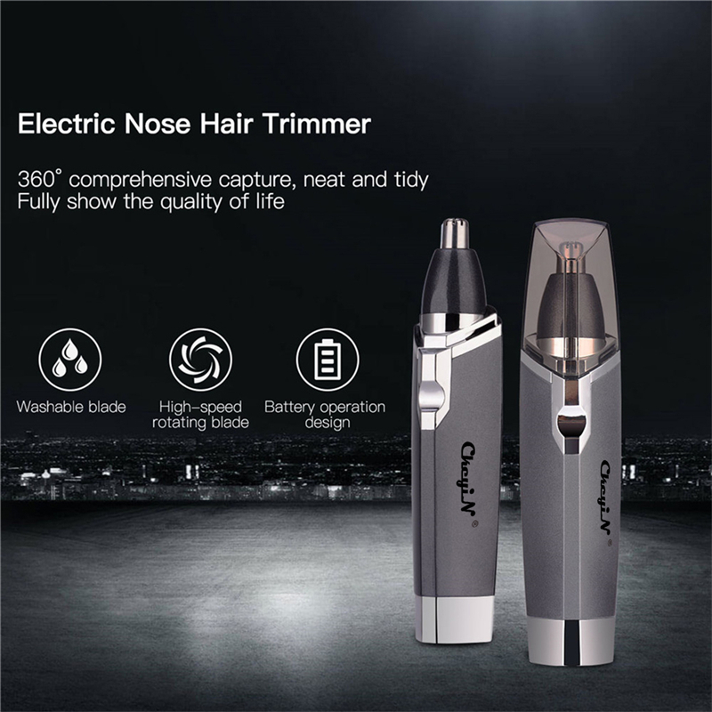Battery Operated Nose Trimmer Portable Nose Ear Hair Trimmer Clipper Professional Painless Eyebrow Facial Hair Trimmer Unisex 0