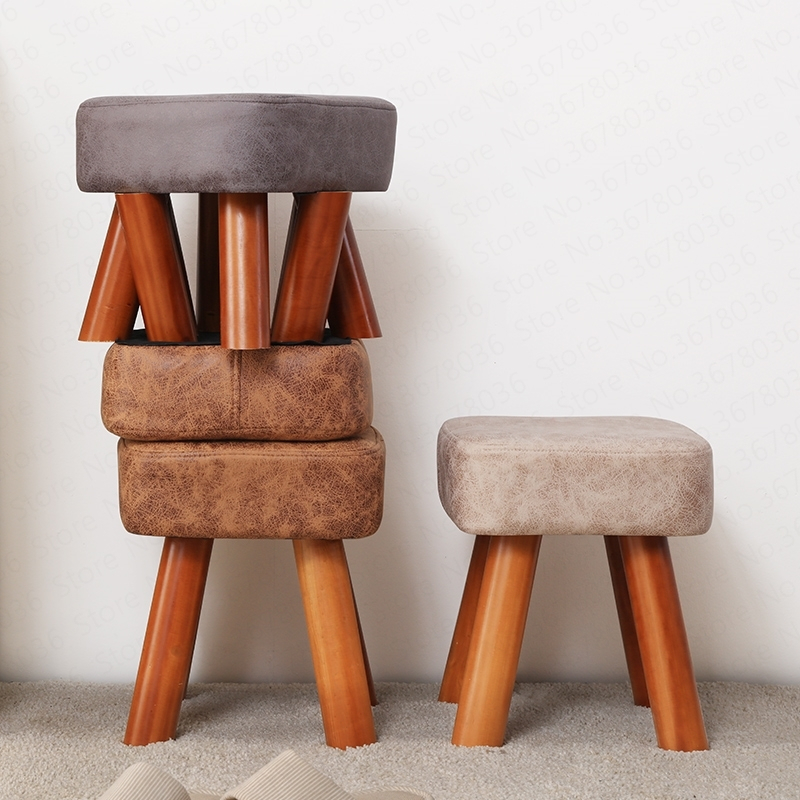 Home stool solid wood shoes stool fashion creative adult children sofa bench coffee table stool