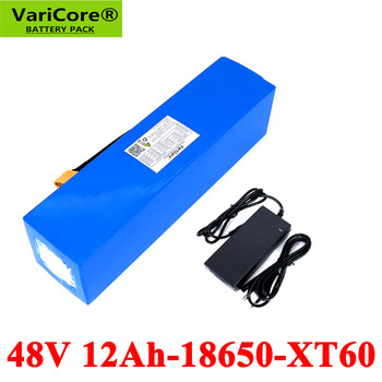 VariCore 48V 12Ah 18650 E-bike battery li ion battery pack bicycle scoot conversion kit bafang 1000W XT60/T plug with Charger bicycle battery 24v 12ah 6s6p lithium battery 25 2v 12ah lithium ion rechargeable battery 350w e bicycle 250w with 2a charger