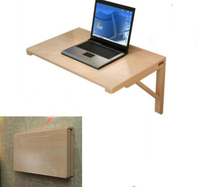 100*60cm Multipurpose Wall mounted folding study desk Solid Wood Laptop desk
