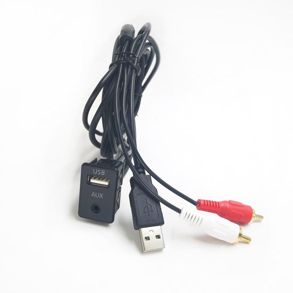 Автомобильный Кабель Biurlink 100 см, 2RCA USB для смены компакт-дисков, стерео USB RCA аудио адаптер для Benz Mercedes BMW Audi Skoda