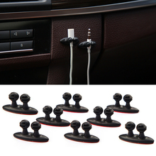 8Pcs/set Car Wire Cable Holder Tie Clip Fixer Organizer Adhesive Charger Line Clasp Clamp USB Cable Car Clip Winder Car-styling 20pcs car cable winder fastener charger line clasp wire cord clip tie fixer organizer desk wall clamp holder management adhesive