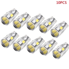 10 Pcs T10 6SMD 5630 LED Wedge Light White Car Side Bulbs Canbus Error Free