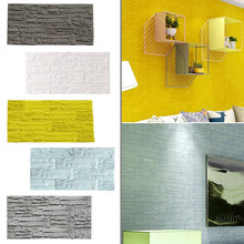 1Pcs Waterproof PE Foam 3D Wallpaper For TV Background Kids Room Brick Wall Stickers Murals Wall Covering DIY Self Adhesive(China)