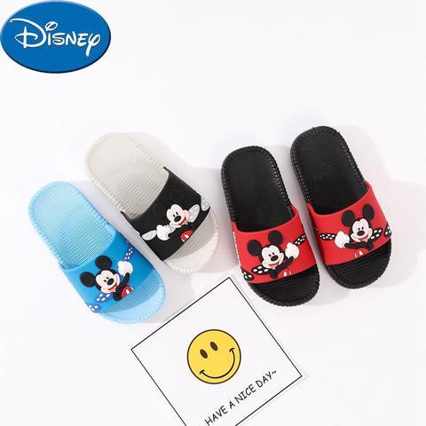 original disney mickey criancas antiderrapante chinelos de bebe sandalias e chinelos interior fundo macio plana