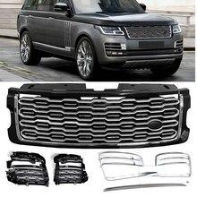 6 ชิ้นด้านหน้า grille ตาข่ายย่างสำหรับ Land Rover Range Rover SV Autobiography SVA 2018 2019 ด้านหน้าตาข่าย vent