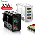 4 порта USB зарядное устройство с функцией быстрой зарядки 3,0 4,0 порт солнечных батарей Быстрая зарядка настенный адаптер для iPhone 12 11 X Xiaomi Samsung ...