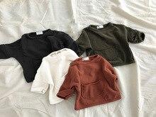 2019 Korean children's clothing autumn boys and girls' westernized Korean pocket sweater top