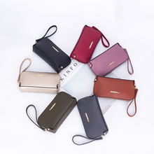Mini Wallet Women 2020 New Fashion Casual Zipper Ladies Clutch Bags Solid Color Female Shell Bag PU Leather Red Purse Woman
