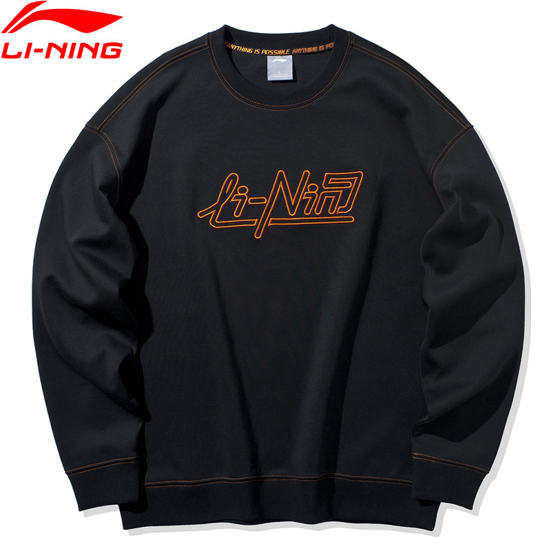 Li-Ning Men The Trend Sweater Loose Fit 87% Cotton 13% Polyester Comfort LiNing Li Ning Sports Hoodie AWDQ021 MWW1643