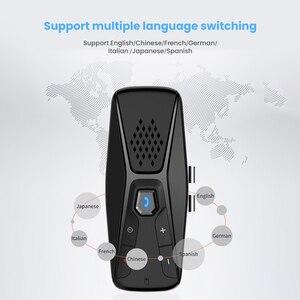 Image 5 - Aoshike kit handsfree bluetooth carro receptor de áudio sem fio viseira sun bt 4.1 mãos livres para chamada telefone speakerphone mp3 player