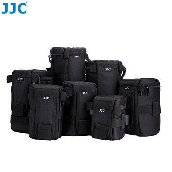 цена на JJC Waterproof Deluxe Camera Lens Bag Pouch for Canon Sony Nikon JBL Xtreme Polyester Soft Case SLR DSLR Box Photography Belt