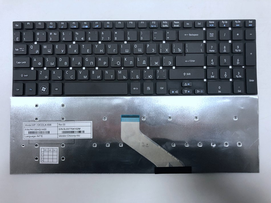 Russian Laptop Keyboard For <font><b>Acer</b></font> aspire E1-570 V3-772 V3-531 V3-531G V5-561 V5-561G E1-570G V3-7710 V3-7710G V3-<font><b>772G</b></font> RU Layout image