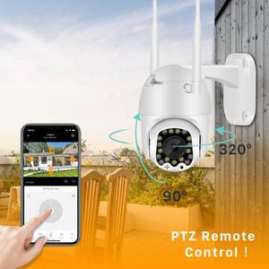 Image 3 - Cloud 1080P Wifi Ptz Camera Outdoor 2MP Auto Tracking Cctv Home Security Ip Camera 4X Digitale Zoom Speed Dome camera Sirene Licht
