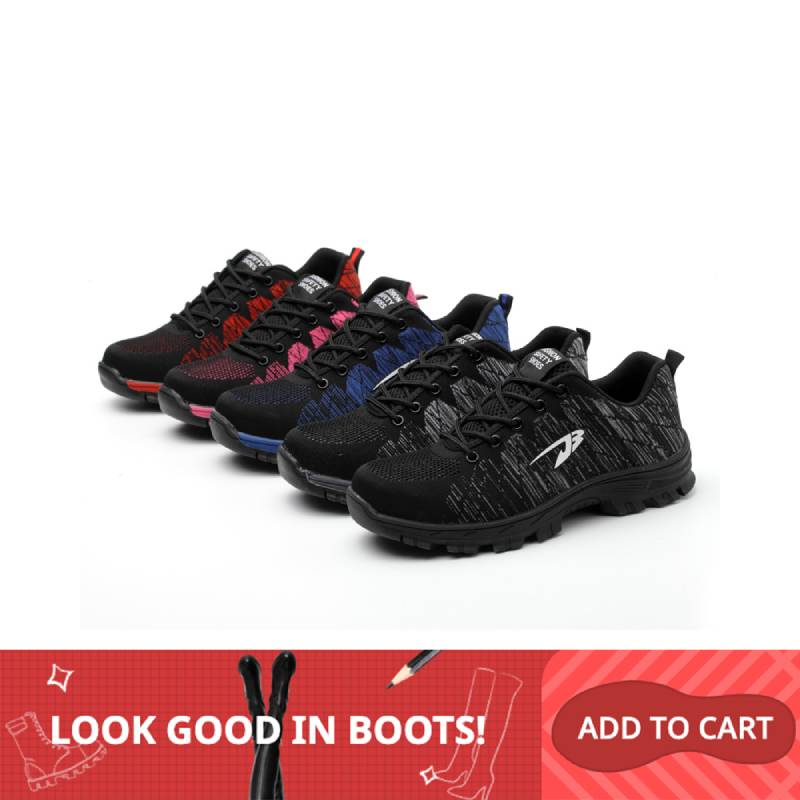 XZMDH Outdoor Men And Women Safety Boots Men Breathable Shoes Steel Toe Puncture-Proof Workers Sneakers Shoes Woman Shoes Men