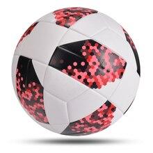 Novo profissional tamanho da bola de futebol 5 macio material do plutônio futebol formação competição jogo adulto criança inflável balon de futbol