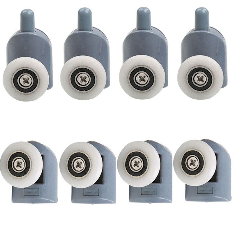 4 pièces-8 pièces/ensemble salles de douche cabines poulie/salle de douche rouleau/coureurs/roues/poulies diamètre 20mm/22mm/23mm/25mm/27mm
