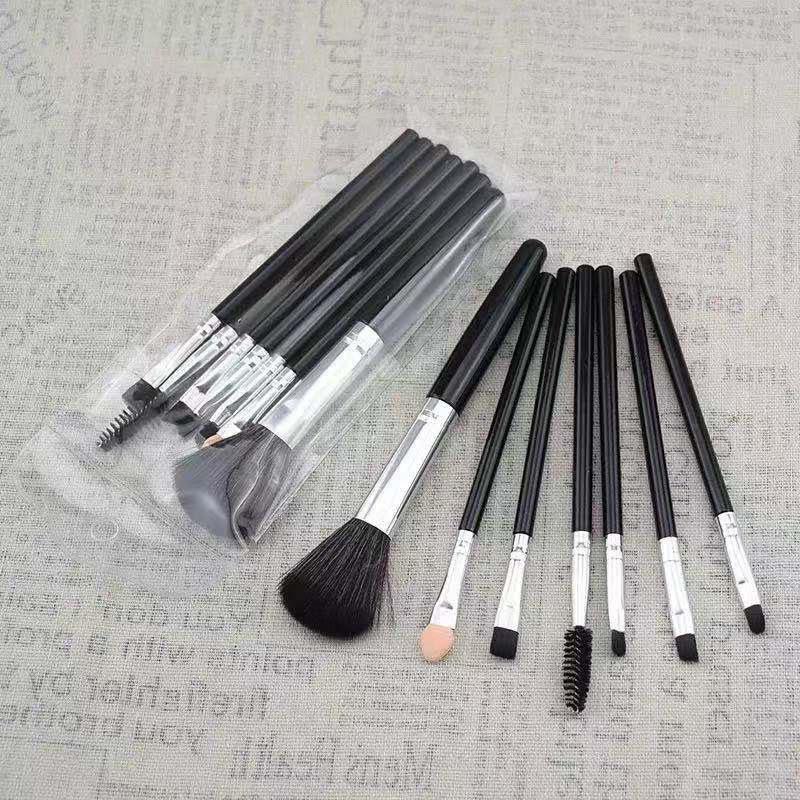7 Pcs Makeup Brush Set Kit Eyelashes,eye Brow Brushes Eye Shadow, Eyeliner Brushes Beauty Cosmetic Tools Face Care Tool Kit