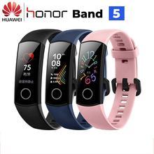 Huawei Honor Band 5 Smart Band AMOLED Huawei Smart Bracelet Blood Oxygen Heart Rage Ftness Sleep Tracker Sport Band GPS huawei honor a1 uv testing smart bracelet leather band black