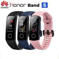 Huawei Honor Fascia 5 Banda Intelligente AMOLED Huawei Braccialetto Intelligente di Ossigeno Nel Sangue Del Cuore Rabbia Ftness Sonno Tracker Fascia di Sport GPS