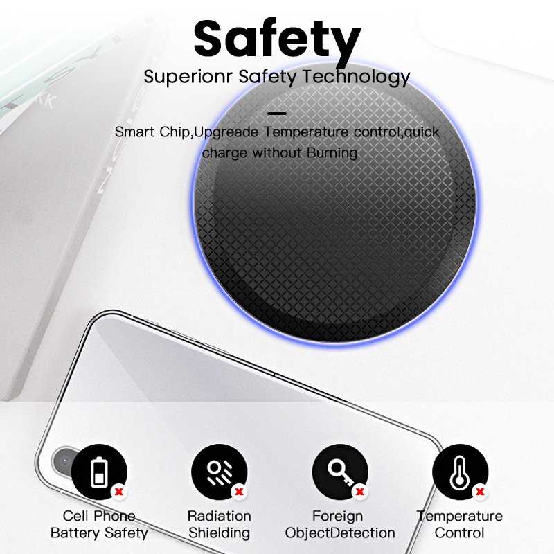 Image 5 - iONCT 15W Fast Qi Wireless Charger for iPhone 11 pro X XR XS Max 8 USB wirless Charging for Samsung phone charger wireless padWireless Chargers   -