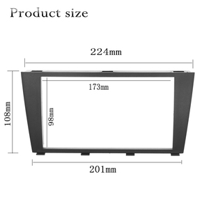 Image 3 - Double Din Car Radio Fascia for 1995 2006 Lexus IS200 IS300 Toyota Altezza 173X98mm Auto Stereo Plate Frame In Dash Mount kit